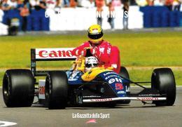 [MD1462] CPM - PROMOCARD N° 6305 - MANSELL DA UN PASSAGGIO A SENNA AL GRAN PREMIO DI SILVERSTONE 1991 - NV - Grand Prix / F1
