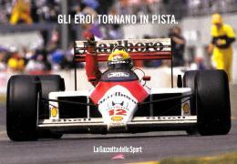 [MD1464] CPM - PROMOCARD N° 6304 - SENNA VITTORIOSO AL GRAN PREMIO DI MONTREAL 1988 - NV - Grand Prix / F1