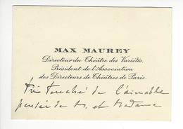 MAX MAUREY (1866-1947) AUTOGRAPHE ORIGINAL AUTOGRAPH THEATRE /FREE SHIPPING R - Autographs
