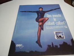 ANCIENNE AFFICHE  PUBLICITE LE COLLANT DE DIM 1987 - Habits & Linge D'époque