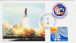 1985 USA  Space Shuttle Challenger  STS-61-A Postal Card - FDC & Commemoratives
