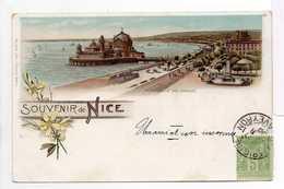 - CPA PRECURSEUR SOUVENIR DE NICE (06) - Promenade Des Anglais 1900 - Editions Briquet - - Altri
