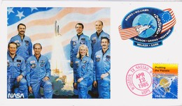 1985 USA  Space Shuttle Discovery  STS-51-D Postal Card - FDC & Commemoratives