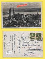 CPA ZURICH Vue Générale Timbrée 1927 - ZH Zurich