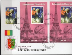 Guinea 1998, XXth Century, Space, John Glenn, 1val +BF+BF IMPERFORATED In FDC - Space