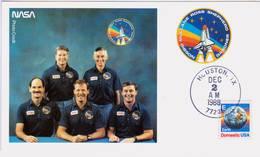 1988 USA  Space Shuttle Atlantis  STS-27 Postal Card - FDC & Commemoratives