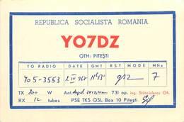 D1275 Radio Amateur QSL Card Romania Pitesti - Radio Amateur