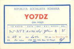 D1275 Radio Amateur QSL Card Romania Pitesti - Roumanie