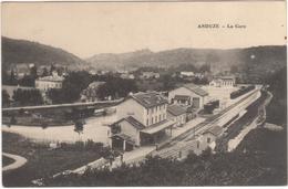 Cp ANDUZE - La GARE - Gares - Sans Trains