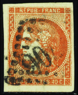 138 N°48 40c Orange TB Qualité:OBL Cote: 160 - France