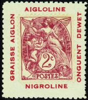 """595 N°108 Sur Porte-timbre """"Aigloline"""" Qualité:** Cote: ..... - Variétés Et Curiosités"""