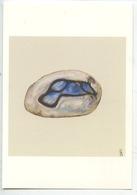 Alfred Manessier - Galet De La Baie De Somme 1977 - Aquarelle Sur Papier (coll Part) Cp Vierge - Arts
