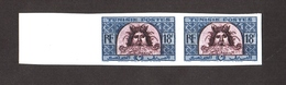 Tunisie 1947-49 Tete De NEPTUNE ( Mosaique D Utique ) , Yvert#319 - Essai  Non Dentele - Paire  Neufs ** - Unused Stamps