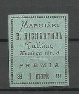 ESTLAND ESTONIA Ca 1930 Margiäri Eichenthal Kartongpapier Reklamevignette ? - Estland