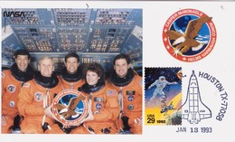 1993 USA  Space Shuttle Endeavour  STS-54 Postal Card - FDC & Commemoratives