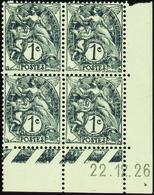 2048 N°107 1c Blanc 22-12-26 Qualité:** Cote: 45 - Coins Datés