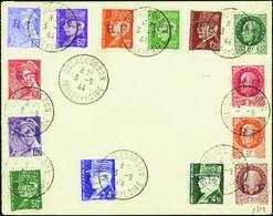 2983 Rochecorbon 14 Valeurs Sur Lettre (n°3-11-12-25 à 30-32-35-36-38-39) Qualité:OBL Cote: 1455 - Libération