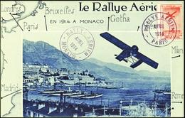 3092 Précurseur Rallye Aérien Paris-Monaco Sur Carte Qualité:OBL Cote: ..... - Monaco