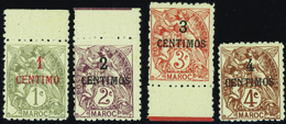 3592 N°20 /23 Type Blanc 4 Valeurs Dentelées 11 Qualité:** Cote: ..... - France (ex-colonies & Protectorats)