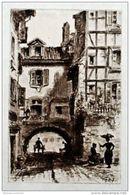 EAU FORTE ORIGINALE Sur Vélin * BAYONNE < UN PASSAGE ? * < Ferdinand CORREGES 1887 - Estampes & Gravures