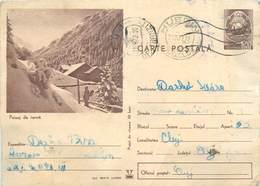 D1275 Postal Stationery Post Card Romania Winter Landscape - Roumanie