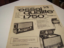 ANCIENNE AFFICHE  PUBLICITE PHONO SON POSTE PATHE 1959 - Other