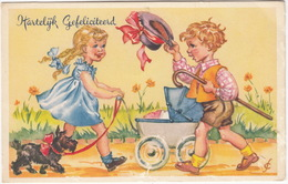 Kinderkaart - Hartelijk Gefeliciteerd - (Stempel 'Kinderheim 'De Regenboog', V. Tuyll V. Serooskerkenweg 122, Amsterdam) - Humorkaarten