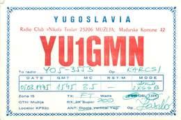 D1276 Radio Amateur QSL Card Yugoslavia Radio Club Nikola Tesla - Amateurfunk