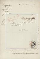 Paris 1815 Argenterie,Menus, Plaisirs Et Aff. De La Chambre Du Roi Sénéchal 3715 – P - Storia Postale