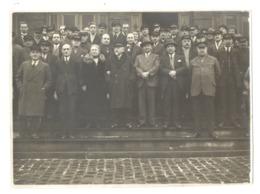 """Photo  - Personnel De La Compagnie De Chemins De Fer """" NORD - BELGE """" Train,... - Places"""