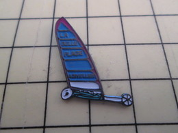 Pin415b Pin's Pins / Beau Et Rare / SPORTS : CHAR A VOILE LA BELLE PLAGE ASNELLES CALVADOS NORMANDIE - Sailing, Yachting