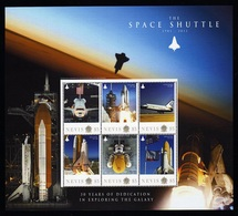 Nevis Very Big S/Sheet Mnh Space Shuttle 1981/2011. - Space