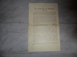 Document ( 357 )   De Oorsprong Van Woumen - Liberale Kandidaten Op De Lijst N° 2 - Faire-part