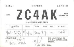 D1277 Radio Amateur QSL Card Cyprus - Cyprus
