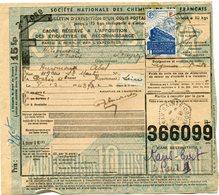 FRANCE BULLETIN D'EXPEDITION D'UN COLIS POSTAL AVEC OBLITERATION SAINTE-CROIX 8-12-43 AVEYRON - Cartas