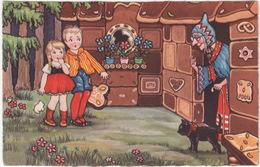 Neuzen: Hans En Grietje, Heks, Zwarte Kat - Pannekoekhuisje- (Holland, 1933) - AMAG 0347 - Humorkaarten
