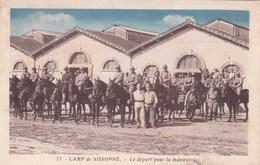 Camp De SISSONNE - Militaria - Militaires à Cheval - Sissonne
