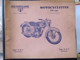 REVUE - MOTOBECANE - PIECES DETACHEES - MOTOCYCLETTES 175 CM3 - TYPE Z 26 C - TYPE Z 27 C - Moto