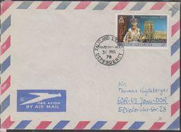 Falkland Islands Dependency / South Georgia 1978 Cover (Silver Wedding 11p) Ca 3 Mr 78 (38412) - Zuid-Georgia