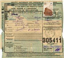 FRANCE BULLETIN D'EXPEDITION D'UN COLIS POSTAL AVEC OBLITERATION FOISSAC 16-6-43 AVEYRON - Cartas