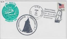 1980 OP SAIL'80 Boston - S/Y Providence Newport, R.I - USS J.F. Kennedy (CV-67) 4. June - Voile