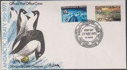 AAT 1971 Antarctic Treaty 2v On FDC Mawson Ca 27 Dec 1971 (38427) - FDC