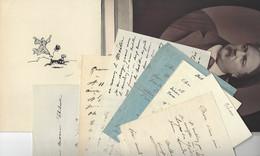 ALFRED GREVIN (1827-1892) 7 LAS + DESSIN + PHOTO AUTOGRAPHE ORIGINAL AUTOGRAPH SCULPTEUR CARICATURISTE /FREE SHIP. R - Autographes