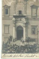Carte Photo De 1904, Visite Du Chef D'état Français Emile Loubet, Palais Du Quirinal - Italia