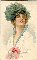 Donna Con Cappello E Fiori - Lot. 1934 - Moda
