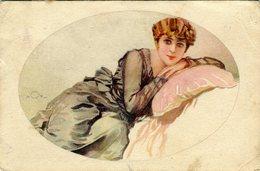 Donna Appoggiata Ad Un Cuscino - Lot. 1935 - Moda