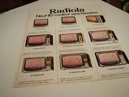 ANCIENNE AFFICHE  PUBLICITE TELEVISION  LES NOUVEAUTES  RADIOLA  1975 - Plakate & Poster