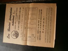 Propagande Pétain Affichette  28 Par 22.5 Cm  39/45 /éléments Juifs De La Bourse - Hist. Wertpapiere - Nonvaleurs