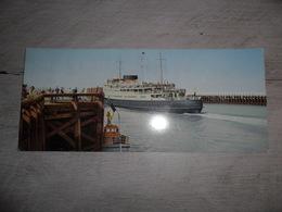 Document ( 368 )  Dubbele Postkaart ( 21 X 9,50 Cm )  Oostende  Ostende   Malle  Mailboot - Oostende