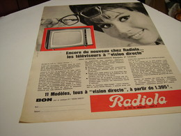 ANCIENNE AFFICHE  PUBLICITE TELEVISION  VISION DIRECT  RADIOLA  1964 - Plakate & Poster